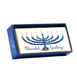 Papyrus Greetings Boxed Chanukah Cards Wide Menorah 16pk