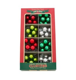 Christopher Radko Shiny Brite Holiday Splendor Ornaments Clusters 1in