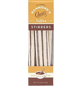 Hammonds Candies All Natural Toffee Cocoa Stirrers 3.75oz Box