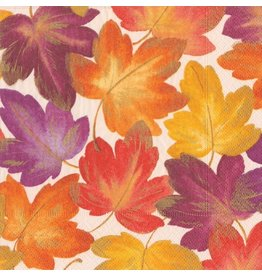 Caspari Fall Paper Cocktail Napkins 20ct Fallen Autumn Leaves