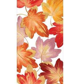 Caspari Fall Paper Guest Towel Napkins 15pk Fallen Autumn Leaves