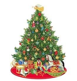 Caspari Christmas Gift Tags 4pk Oh Christmas Tree Ornament