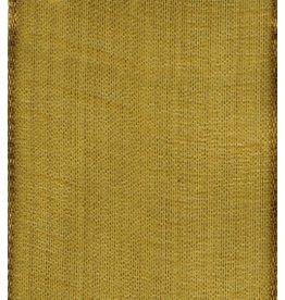 Caspari Ribbon R720 Wired 9 yards Sheer Gold