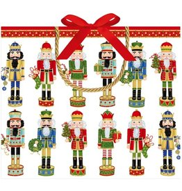 Caspari Christmas Gift Bag Large 11.75x4.75x10 inch Nutcracker Parade