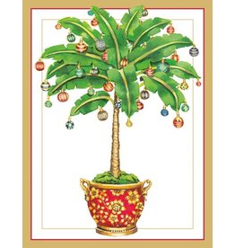 Caspari Caspari Boxed Christmas Cards 16pk Ornamented Palm