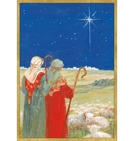 Caspari Boxed Christmas Cards Set of 16 Star of Bethlehem