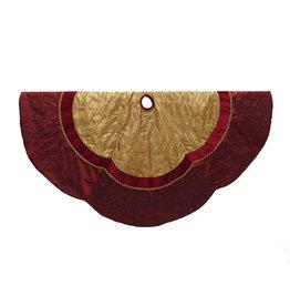 Kurt Adler Christmas Tree Skirt Gold Etched Velvet Tree Skirt 72 inch