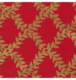Caspari Christmas Gift Wrapping Paper Roll 8ft Acanthus Trellis Red