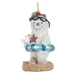 Kurt Adler Beach Snowman Ornament Snow-WOMAN Christmas Ornament