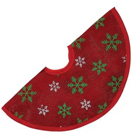 Kurt Adler Christmas Tree Skirt Miniature 12D inches Red Green White