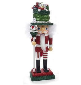 Kurt Adler Christmas Hollywood Nutcracker W Toy Maker Hat 10 inch