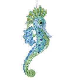 Kurt Adler Whimsical Fantasy Seahorse Ornament - Blue Green