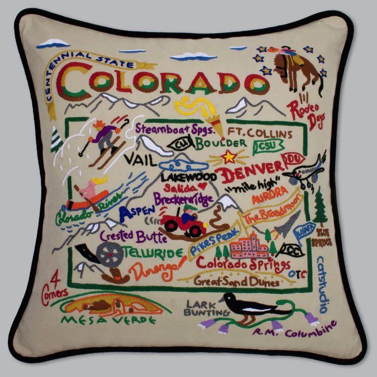 Colorado Embroidered Pillow Davis Designs
