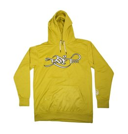 TALL T PRODUCTIONS TALL T PRODUCTION LOGO HOODIE GOLD/WHITE
