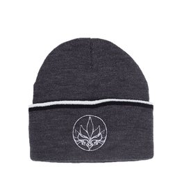TALL T PRODUCTIONS TALL T PRODUCTION STAMP STRIPE BEANIE CHARCOAL/BLACK/WHITE