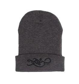 TALL T PRODUCTIONS TALL T PRODUCTION LOGO BEANIE CHARCOAL/BLACK