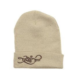 TALL T PRODUCTIONS TALL T PRODUCTION LOGO BEANIE TAN/BROWN