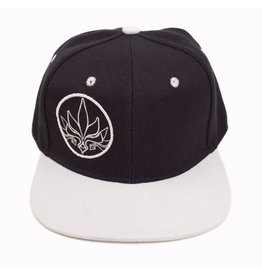 TALL T PRODUCTIONS TALL T PRODUCTION SNAPBACK HAT STAMP BLACK/WHITE/WHITE