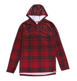 HASKILL HASKILL RED PLAID HOODED BASELAYER