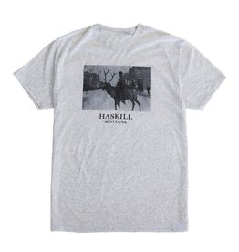 HASKILL HASKILL MONTANA TEE HEATHER WHITE