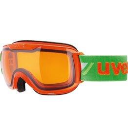 UVEX UVEX 16/17 GOGGLE DOWNHILL 2000 SMALL RACE ORANGE-GREEN LASERGOLD LITE S1