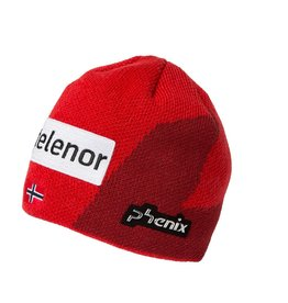 PHENIX PHENIX 2018 BEANIE NORWAY ALPINE TEAM JUNIOR KNIT LOGO RED