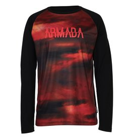 ARMADA ARMADA 2018 BASE LAYER CONTRA CREW L/S TOP RED RESIN