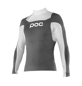 POC POC LAYER JUNIOR CUT SUIT TOP STEEL GREY/HYDROGEN WHITE