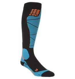 CEP CEP COMPRESSION MERINO SKI SOCKS MENS BLACK/AZUR