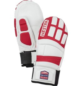 HESTRA HESTRA 2018 SKI GLOVE IMPACT RACING JUNIOR MITT WHITE/RED