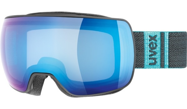 UVEX UVEX 2018 SKI GOGGLE COMPACT BLACK MAT M30 BLUE MIRROR