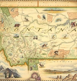Xplorer Maps Hand-Drawm Montana Maps in Tubes