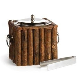 Napa Home and Garden Log Cabin Ice Bucket