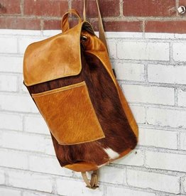 Canoe Cowhide Backpack