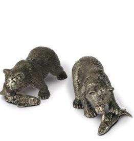 Vagabond House Bear with Fish Salt & Pepper Shaker