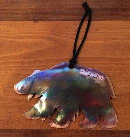 RoseworksMT, Inc. Bear Ornament with Big Sky Namedrop