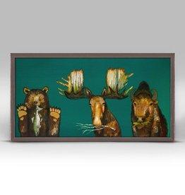 "Green Box Art Salmon, Branches & Grass -       10"" x 5"""