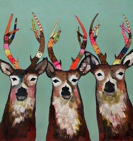 Green Box Art Designer Deer - 24x24