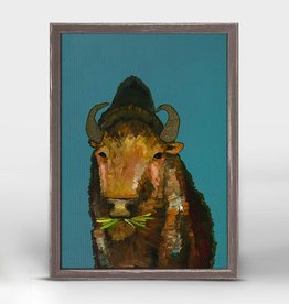 Green Box Art Bison with Grass - 5x7