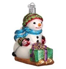 Old World Christmas Snowman on Skis