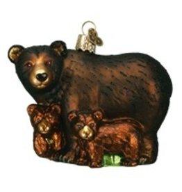 Old World Christmas Bear w/Cubs