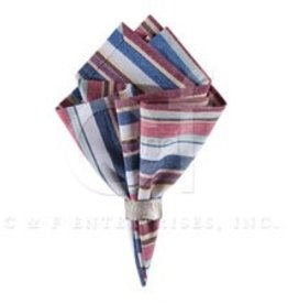 "C&F Enterprises Heartland Stripes 18"" Woven Napkin"