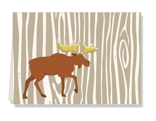 Faux Designs Moose Gift Note