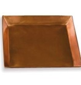 "Napa Home and Garden Square Saucer - 8"" Copper"