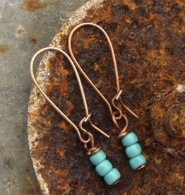 Buffalo Girls Salvage Turquoise Beaded Earrings