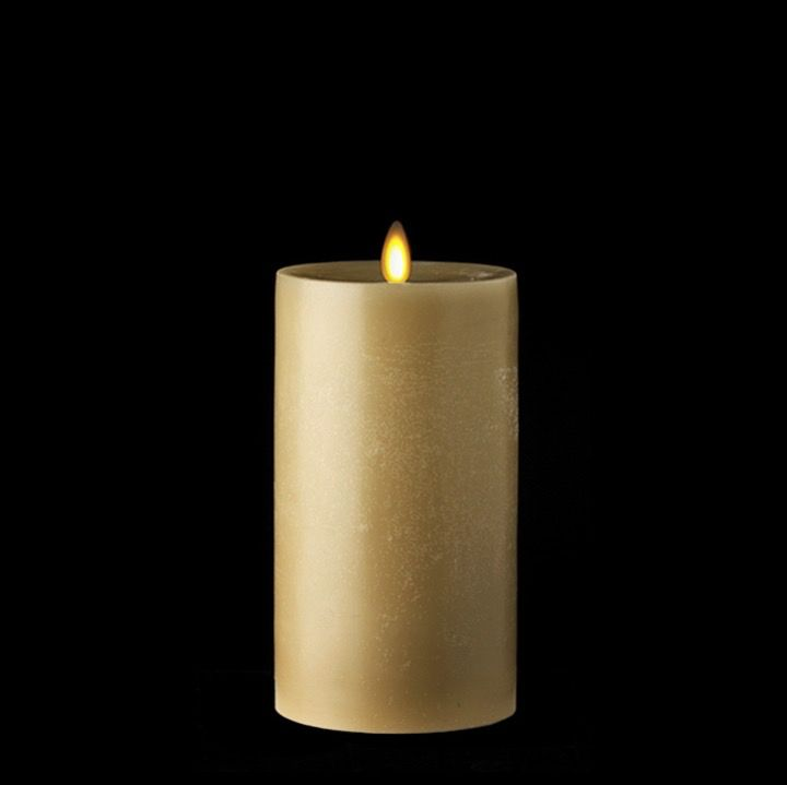 "RAZ Moving Flame 3"" x 4"" Pillar Candle - Burgundy"