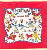 """The Red & White Kitchen Co. Montana Map """"Treasure State"""" Towel"""