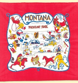 "The Red & White Kitchen Co. Montana Map ""Treasure State"" Towel"