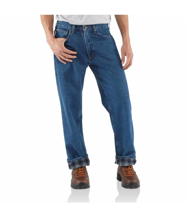 Carhartt Relaxed Fit Jean Straight Leg/Flannel Lined B172