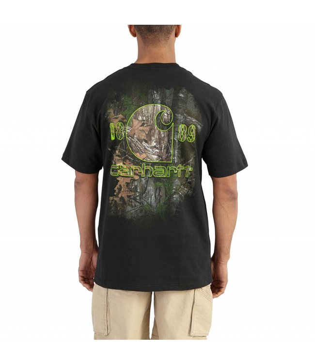 Carhartt 102040 Workwear Graphic Faded Back Camo Pocket Short-Sleeve T-Shirt